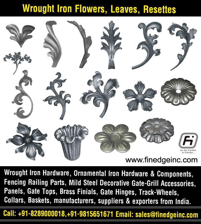 wrought iron leaves manufacturers exporters suppliers India http://www.finedgeinc.com +91-8289000018, +91-9815651671