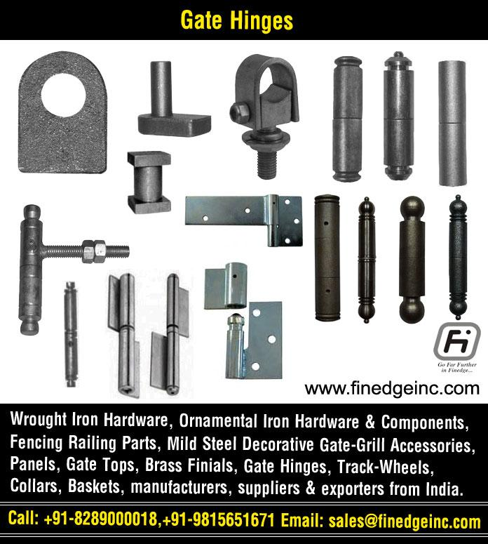decorative gate hinges manufacturers exporters suppliers India http://www.finedgeinc.com +91-8289000018, +91-9815651671