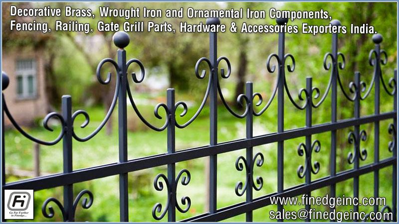 ornamental iron fence hardware materials manufacturers exporters suppliers India http://www.finedgeinc.com +91-8289000018, +91-9815651671
