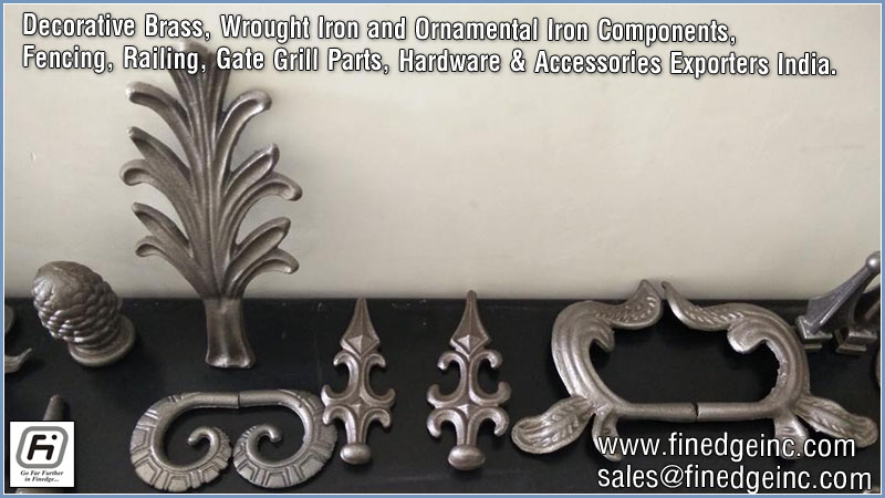 wrought iron fencing hardware manufacturers exporters suppliers India http://www.finedgeinc.com +91-8289000018, +91-9815651671