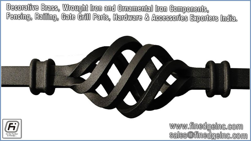 wrought iron hardware for gates manufacturers exporters suppliers India http://www.finedgeinc.com +91-8289000018, +91-9815651671